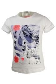 wit shirt met print | DJ Jeans