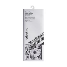 Cricut Joy ™ Deluxe-papier met lijm, zwart en wit botanicals