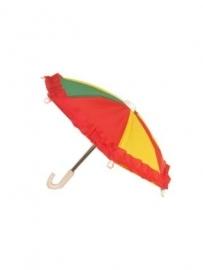mini paraplu | rood/geel/groen