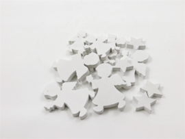 houten engeltjes wit