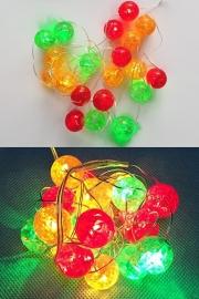 ledverlichting bolletjes rood/geel/groen