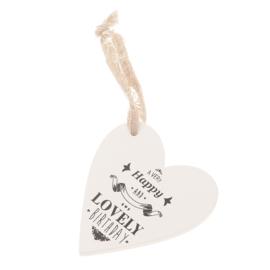 houten hart   Lovely Birthday