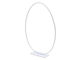 metalen frame  ei op voet   wit