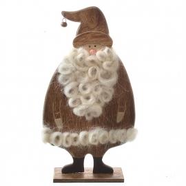 houten kerstman op voet