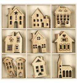 houten huisjes naturel