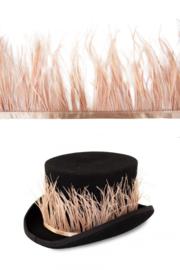 struisvogelveer op band licht bruin