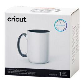 cricut mug grijs/wit 440ml