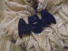 vleermuis zwart glitter