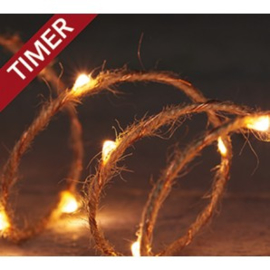 verlichting  jute 20 led 1 mtr classic met timer
