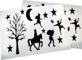stickers | sinterklaas silhouetjes