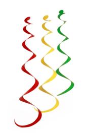 swirl hangers | rood/geel/groen