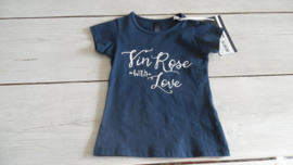 blauw shirt vinrose with love
