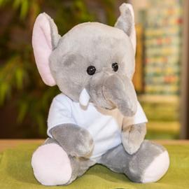 pluche olifant met t-shirt