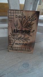 houten postkaart | dank je meester