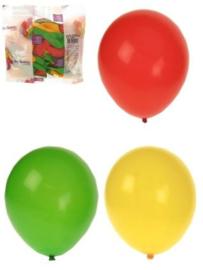 ballonnen helium rood/geel/groen