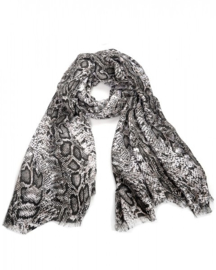 sjaal | slangen print grijs