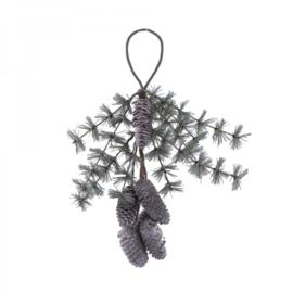 pine cone deco hanger