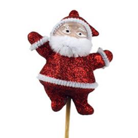 bijsteker kerstman glitter