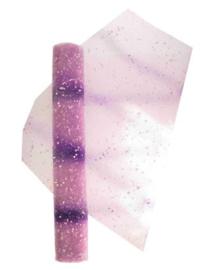 tule paars met witte dotjes
