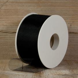 tule zwart 5 cm breed