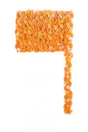 paillettenband golvend oranje