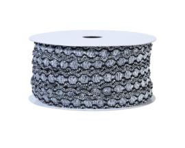 lint zwart/zilver 14 mm