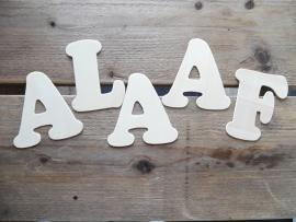 houten letters plat 11 cm | ALAAF