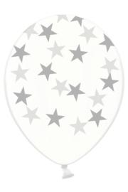 ballonnen doorzichtig ster zilver