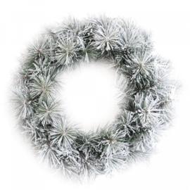 krans groen met sneeuw 50cm