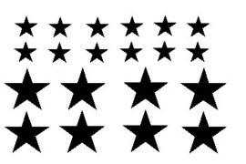 raamsticker | sterren zwart