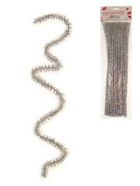chenille draadjes zilver