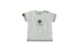 wit shirt korte mouw | Bampidano