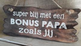tekstbord | bonus papa