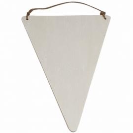 vlag hout| driehoek