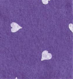 vilt met hartjes lilac