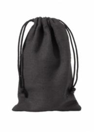 katoen/linnen zakje | zwart