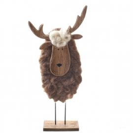 rendier met wol