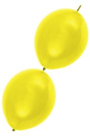 doorknoopballon geel
