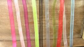 organza linten effen kleuren