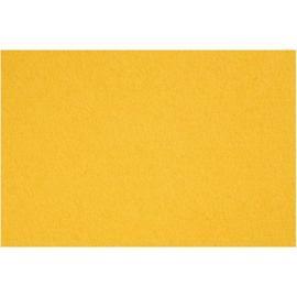 vilt 3mm   geel 42 x 60 cm