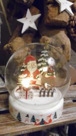 kerstbal met licht