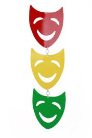 hangdeco maskers 22 x 19 cm