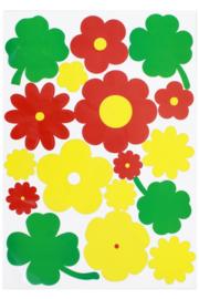 statische raamstickers bloemen