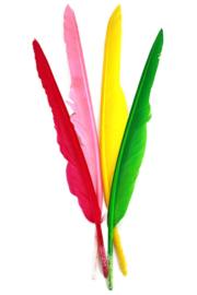 veren fluor kleuren / 20 stuks