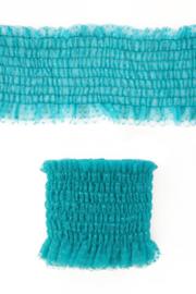luxe elastisch kant turquoise