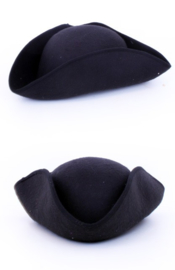 napoleon / piraten hoed zwart