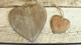 Bruine houten harten