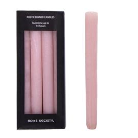 roze dinner kaarsen L