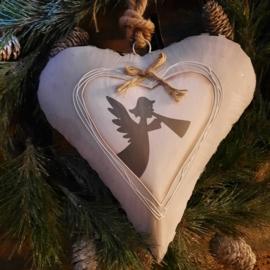 metalen hart met engel