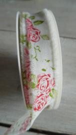 franjeband met bloem